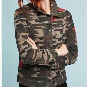 Pilcro and the letter press camo denim jacket